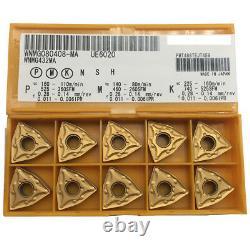 100pcs WNMG080408-MA UE6020 cnc lathe insert cutting tool carbide turning blade