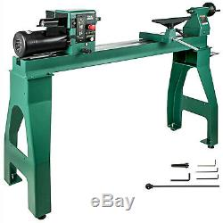 16 x 42 Wood Lathe Wood Turning Lathe 1750W 0-3200RPM Cast Iron Benchtop
