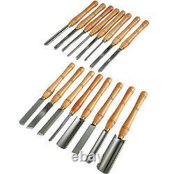 16pcs Wood Lathe Chisel Set Woodworking Lathe Chisel Turning Tools Wooden Case