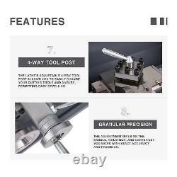 1.5HP 8.7 × 29.5 Mini Metal Lathe Metal Gear 5 Turning Tools Upgraded Auto