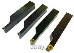 20mm Shank Indexable Lathe Turning Tool Set RCMT 12, 10, 8 & 6 Carbide Inserts