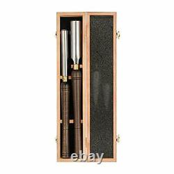 2-Pieces HSS Roughing Gouge Lathe Chisel Set Wood Turning Tools with Walnut Hand