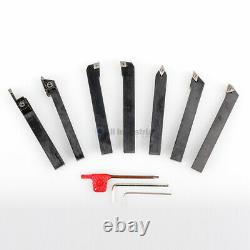 3/4 Indexable Turning Tool 7pc Set With Carbide Inserts Tool Bit Lathe Set