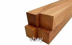 4 Pack, Black Walnut Lathe Turning Exotic Wood Bowl Blanks Blocks 2.5 x 2.5 x 24