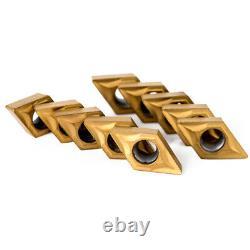 4pcs 12mm Lathe Turning Tool Holder Boring Bar + 10 DCMT070204 Carbide Inserts