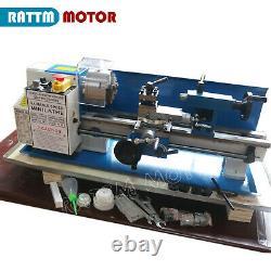 550W mini Lathe Machine Woodworking Turning Metal Thread Drilling 100mm 3 Chuck