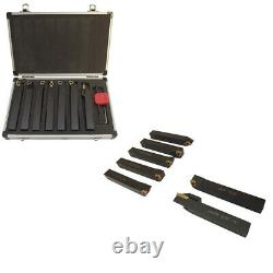 5/8'' Indexable Carbide Turning Lathe Tool Set 7 Pc SCLCL SDJCR SWGCR SDNCN