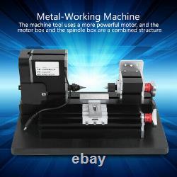 60W Metal Mini Turning Lathe Machine Motorized Metalworking DIY Wood Tool