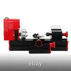 6 in 1 Mini Wood Metal Motorized Lathe Machine Woodworking Turning Tool Kit