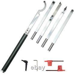 6pcs Carbide Tipped Wood Lathe Turning tools set Rougher Finisher Detailer etc