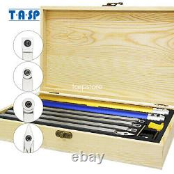 6pcs Wood Turning Tool Carbide Insert Cutter Set with Aluminum Handle for Lathe