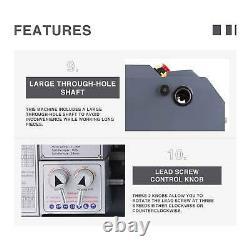 8.7x 23.6 Mini Metal Lathe1100W Metal Gear Brushless Motor 5 Turning Tools