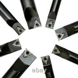 8 PCS 3/4'' Shank Indexable Boring Bar Set Free TCMT Insert Turning Lathe Tool