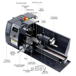 8x14 Mini Metal Lathe Machine Variable Speed 2500 RPM With5 Turning Tools 600W