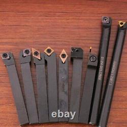 9pcs 12mm Lathe Turning Tool Set Turning Inserts with Holders For CNC Lathe