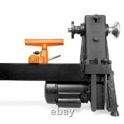 Adjustable Wood Lathe 5-Speed Benchtop Turning Machine Home Workshop Equipment