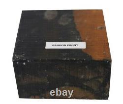 BEAUTIFUL GABOON EBONY TURNING WOOD BOWL BLANK LATHE 8 x 8 x 4