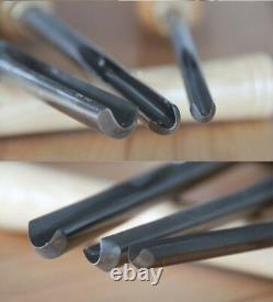 Bowl Gouge Set Wood Lathe Turning High-Speed Steel HSS Woodworking Chisel