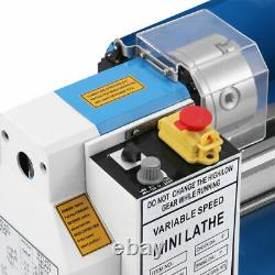 CJ18A Mini Lathe 7x14 Turning Metal Accessory Package Digital Blue Milling