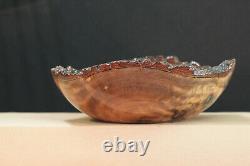 Camphor Wood bowl, hand made, lathe turned, wood