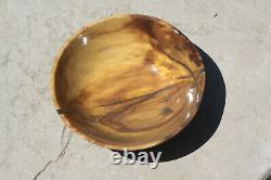 Chinese Tallow Wood Bowl, Hand Made, Lathe Turned, Wooden Bowl. Nicely figured