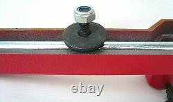 Deluxe 12 Wood Lathe Tool Rest Base + Cam Lock + 5 Curve Tool Rest Turning New