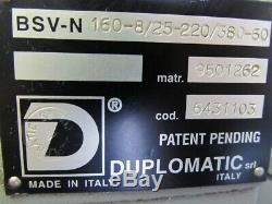 Duplomatic BSV-N 160-8 CNC Lathe/Turning Center Tool Indexer/Turret, NEW UNUSED