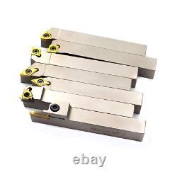 Heavy Duty 5/8 Indexable Carbide Lathe Turning Tool Holder CNC Lathe Bit Set
