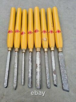 Henry Taylor Diamic Wood Turning Chisels Set of 8 wood lathe tools