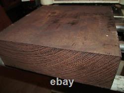 Huge Kiln Dried Wenge Platter Lathe Turning Lumber Wood 16 X 16 X 2