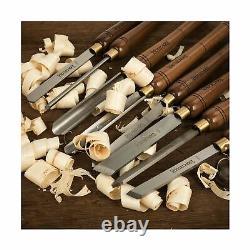 IMOTECHOM 8-Pieces HSS Wood Turning Tools Lathe Chisel Set with Walnut Handle
