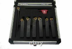 Indexable Lathe Tool Set 7pc 8mm Shank Ccmt 06 Turning + Boring Tools Rdg Tools
