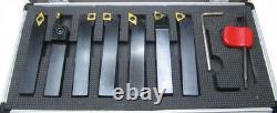 Indexable Lathe Turning Tool Set 10mm Shank 7pc Grooving Threading Rdgtools