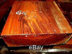 Large Goncalo Alves/tigerwood Bowl Blank Lathe Turning 12 X 12 X 4 Tb