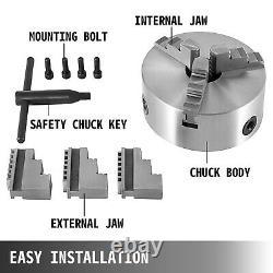 Lathe Chuck K11-200 8 3 Jaw 200mm Reversible Jaw 3600r/min Wood Turning Steel
