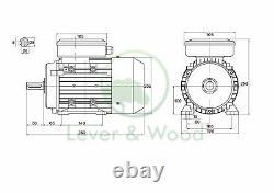 Lathe Motor Wood Turning Metal Work Electric Motor single phase 2.2kW 3kW