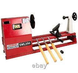 Lumberjack 1 Metre Starter Wood Turning Lathe with Variable Speed & Accessories