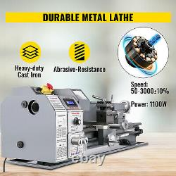 Metal Lathe Mini Lathe 8.7x23.6 1.1KW for Counter Face Turning Brushless Motor