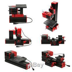 Mini DIY Metal Lathe Metalworking Woodworking Power Tool Turning Machine R1T2