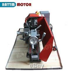 Mini Metal Turning Thread Lathe Machine Wood Drilling Woodworking WM180V 600W