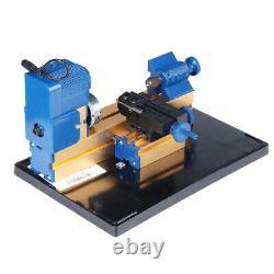 Multifunction Mini Wood Lathe DIY Woodworking Turning Cutting Hobby Beads Q