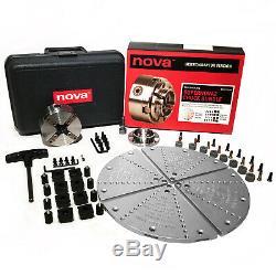 Nova Lathes 23104 SN2 Bowl Turning Bundle 23055 Insert Chuck 6040, 6030+Case New