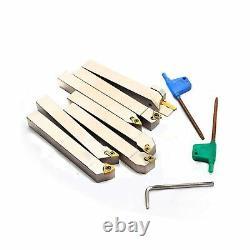 OSCARBIDE 1/2 Shank 7 Pieces/Set, Indexable Lathe Turning Tool Holder CNC Hea