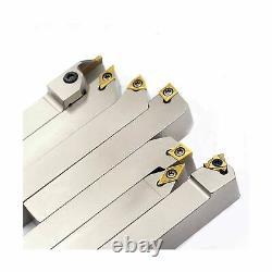OSCARBIDE 3/4 7 Pieces/Set, Indexable Lathe Carbide Turning Tool Holder Lathe