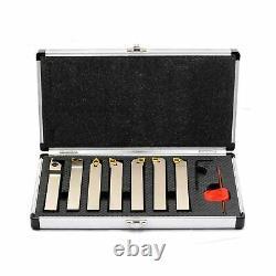 OSCARBIDE 5/8 Shank 7 Pieces/Set, Indexable Carbide Lathe Turning Tool Holder