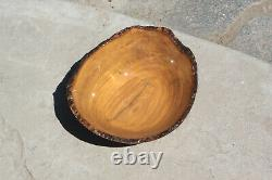 Olive Wood Bowl, Lathe turned, hand made, wooden
