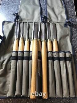PRO HSS HIGH SPEED STEEL WOOD TURNING LATHE TOOLS CHISEL WOODWORKING SET 8 Piece
