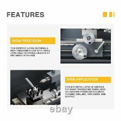 Preenex 1100W 2250rpm Mini Metal Lathe for Turning Cutting Drilling & Threading