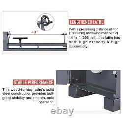 Preenex 14x40 Wood Turning Lathe 1/2HP 3400rpm Home or Shop Woodworking Machine
