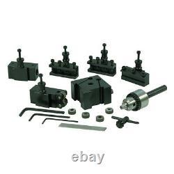 Quick Change Tool Post Set For Mini Lathe Dovetail Type Locking System Turning